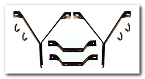 Front Outer Bumper Bracket Set, 1967 - 69 Barracuda AMD
