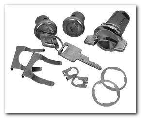 Ignition And Door Lock Kits, 1969 - 77 Chevelle  Classic Auto Locks