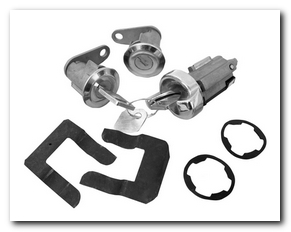 Ignition And Door Lock Kits, 1973 - 76 Ford Mustang  Classic Auto Locks