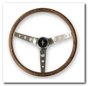 Grant Steering Wheel, 1964 - 73 Mustang (Wood, 13 1/2
