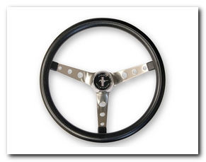 Grant Steering Wheel, 1965 - 73 Mustang (Black) Scott Drake