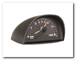 Tachometer, 1965 - 70 Mustang Gauge (Black Face, 8000 Rpm) Scott Drake