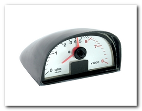 Tachometer, 1965 - 70 Mustang Gauge (White Face, 8000 Rpm) Scott Drake