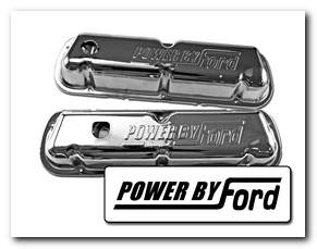 Valve Covers, 1968 - 70 Mustang (Power By Ford, Chrome, Fits 260 - 289 - 302 - 351) Scott Drake