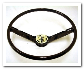 Steering Wheel, 1968 - 69 Mustang (Black) Scott Drake