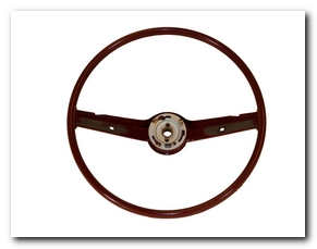 Steering Wheel, 1968 - 69 Mustang (Dark Red) Scott Drake