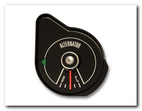 Amperage Gauge, 1969 Mustang (Black) Scott Drake