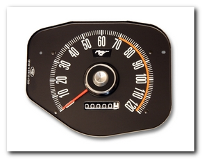 Speedometer, 1969 Mustang Gauge (Standard, Without Tach) Scott Drake