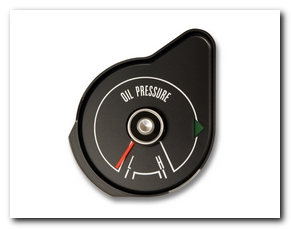Oil Pressure Gauge, 1969 Mustang (Black) Scott Drake
