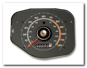 Speedometer, 1969 - 70 Mustang Gauge (69: Deluxe And Mach 1, 70: All; Without Tach) Scott Drake