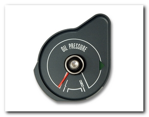Oil Pressure Gauge, 1970 Mustang (Gray) Scott Drake