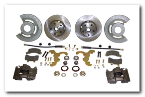 Front Disc Brake Conversion Kit, 1964 - 69 Mustang (V8, Single Piston Calipers, Will Not Fit Original 14