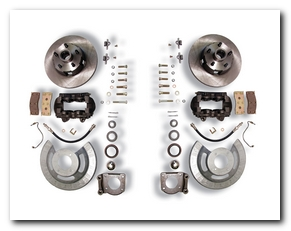 Front Disc Brake Conversion Kit, 1964 - 69 Mustang (V8, 4 Piston Calipers, Will Not Fit Original 14
