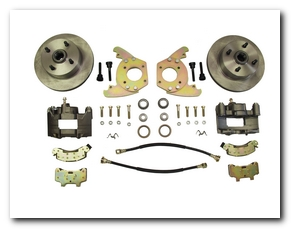Front Disc Brake Conversion Kit, 1967 - 69 Mustang (6 Cylinder, 4 Lug, Single Piston Calipers, Will Not Fit Original 14