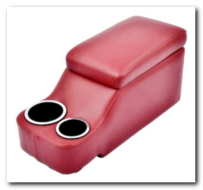 Hump Hugger Console, 1964 - 73 Mustang (Bright Red) Scott Drake