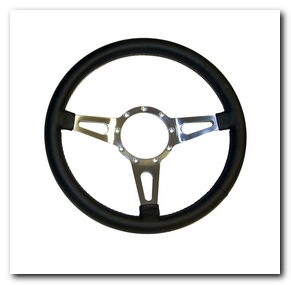 Lecarra Steering Wheel, 1965 - 73 Mustang (Genuine Leather, 15 Inch) Scott Drake
