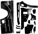 Inner Fender, 1970 - 74 Barracuda Panel Kit LS 13 Pieces Dynacorn