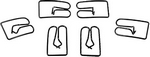 Rocker Panel Molding, 1962 - 64 Clips 6 Pieces Impala Dynacorn