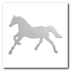 Cut Out, 2015 Universal Horse Med W/Studs R/H Chrome KNS