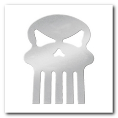 Cut Out, 2015 Universal Skull W/Studs Chrome KNS