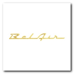 Emblem, 1955 - 56 Bel Air Gold KNS
