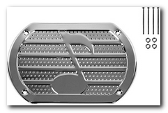 Speaker Cover, 2015 Universal (Chrome 9 - 1/8 W X 6 - 3/8
