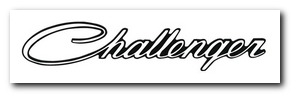Emblem, 1970 - 74 Challenger (Each Adhesive Backed) OER