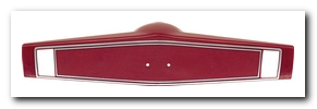 Steering Wheel Center Shroud, 1969 - 70 Nova Red OER