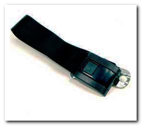 Rear Seat Belt, 1967 - 69 Camaro Black Standard Interior OER