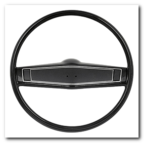 Steering Wheel Kit, 1969 - 70 Nova Black With Black Shroud OER