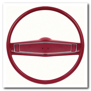 Steering Wheel Kit, 1969 - 70 Nova Red With Red Shroud OER