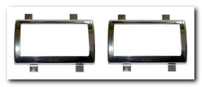 Brake Pedal Pad Bezel Set, 1966 - 70 Valiant With Clutch Bezel Also Quirey Quality