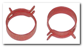Power Steering Return Hose Clamp, 1968 - 74 Valiant (Red) Quirey Quality