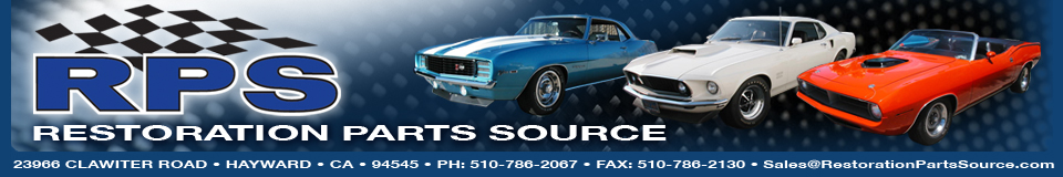 Restoration Parts Source Hayward, California | Restoration parts for new, vintage and classic U.S. make anmd model cars