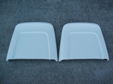 Bucket Seat Back Set, 1966 GTO (White With Chrome Trim) Ted Williams