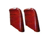 Bucket Seat Back Set, 1966 GTO (Red With Chrome Trim) Ted Williams