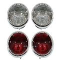 Tail Light Assembly Set, 1964 - 67 Corvette (With Backup Lights) TrimParts